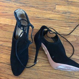 Aquazurra suede black booties